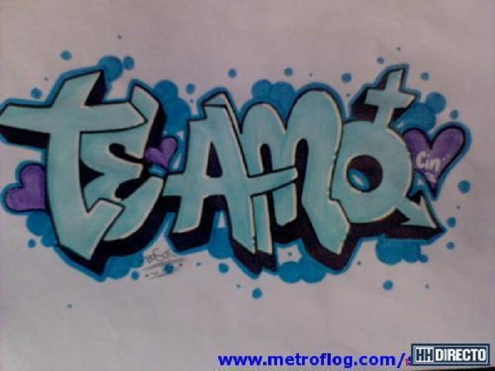 Graffitis de Te Amo | Arte con Graffiti