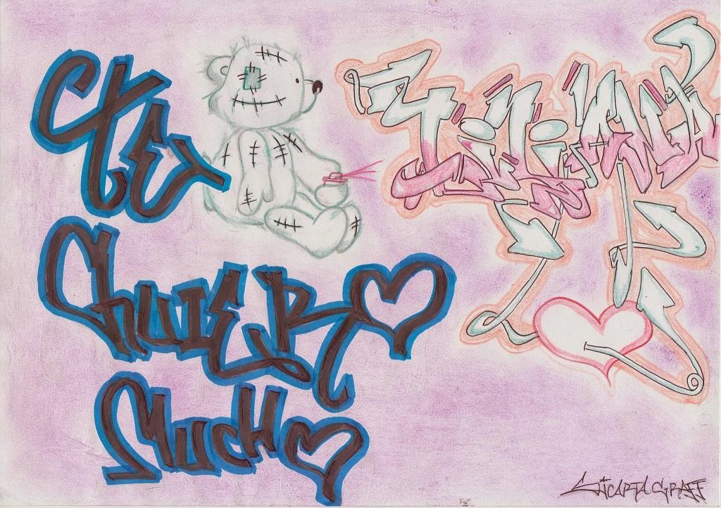 Imagenes De Graffitis Que Digan Te Amo A Lapiz
