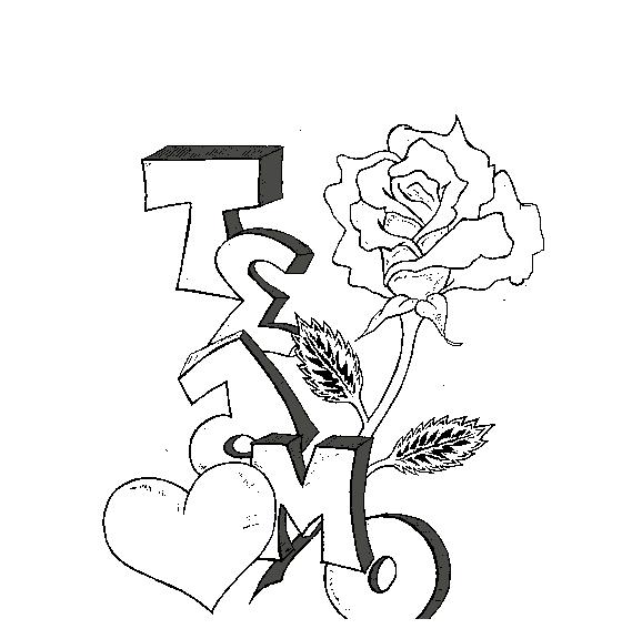 Imágenes de Graffitis de Amor a Lápiz