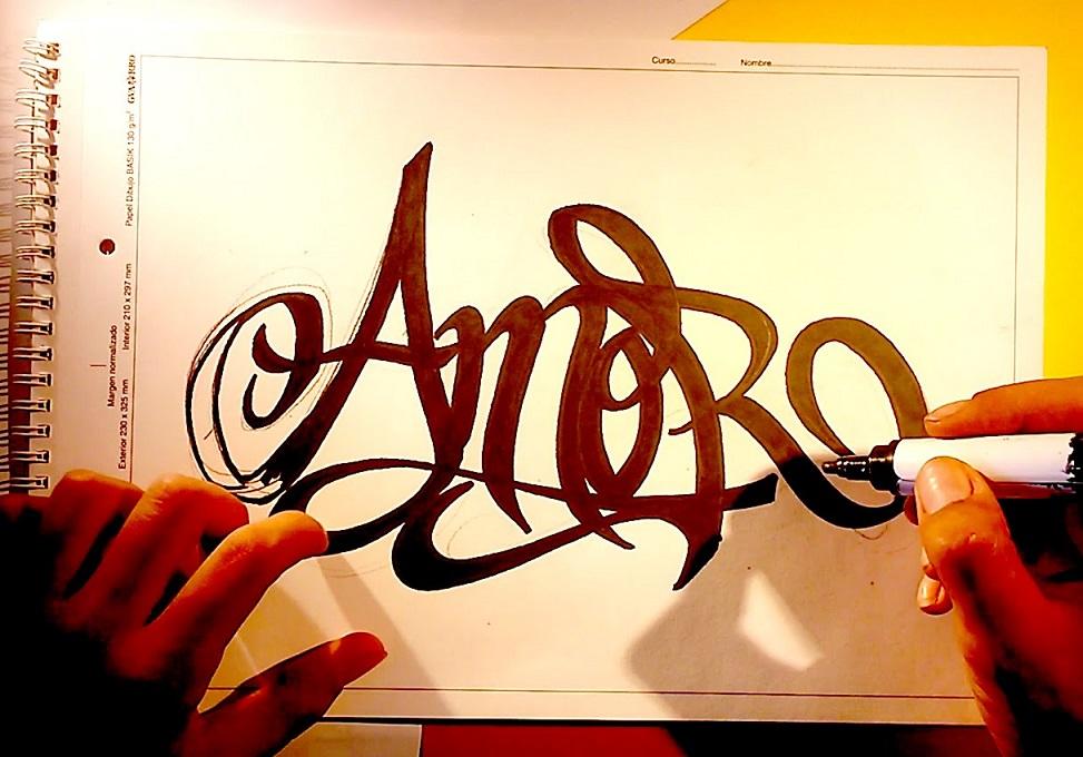 Imágenes de Graffitis de Amor a Lápiz | Arte con Graffiti