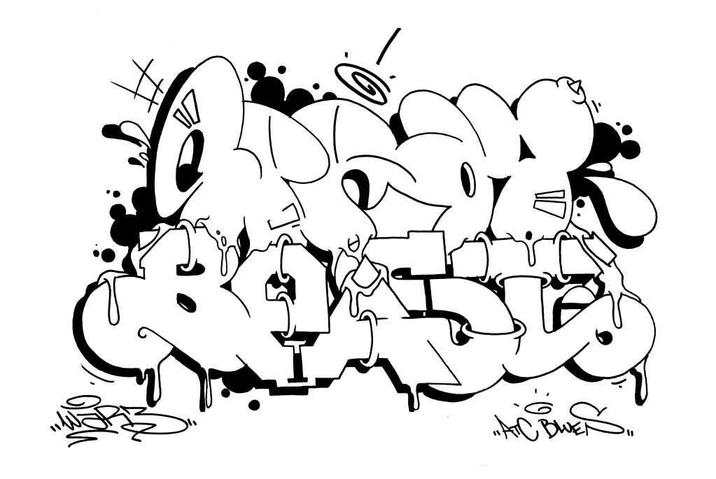 Coloring pages of chidos graffiti - Graffitis De Amor Para Dibujar Arte Con Graffiti