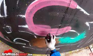 8 minutos sin parar de pintar graffitis