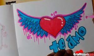 Vídeo tutorial de como hacer un graffiti de amor