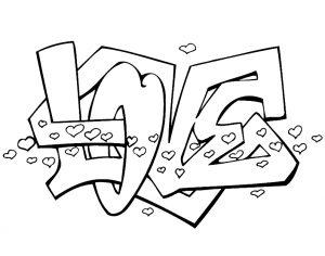 graffitis de amor para dibujar1