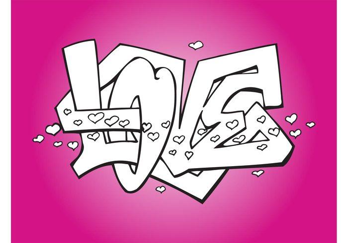 Graffitis Romnticos  Arte con Graffiti