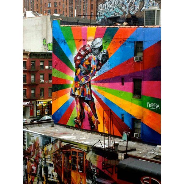 graffitis romanticos pared