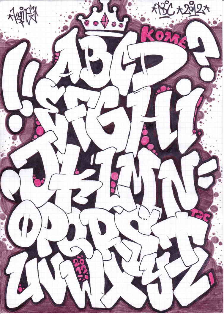 Famosos Abecedario en Graffiti | Arte con Graffiti TL89