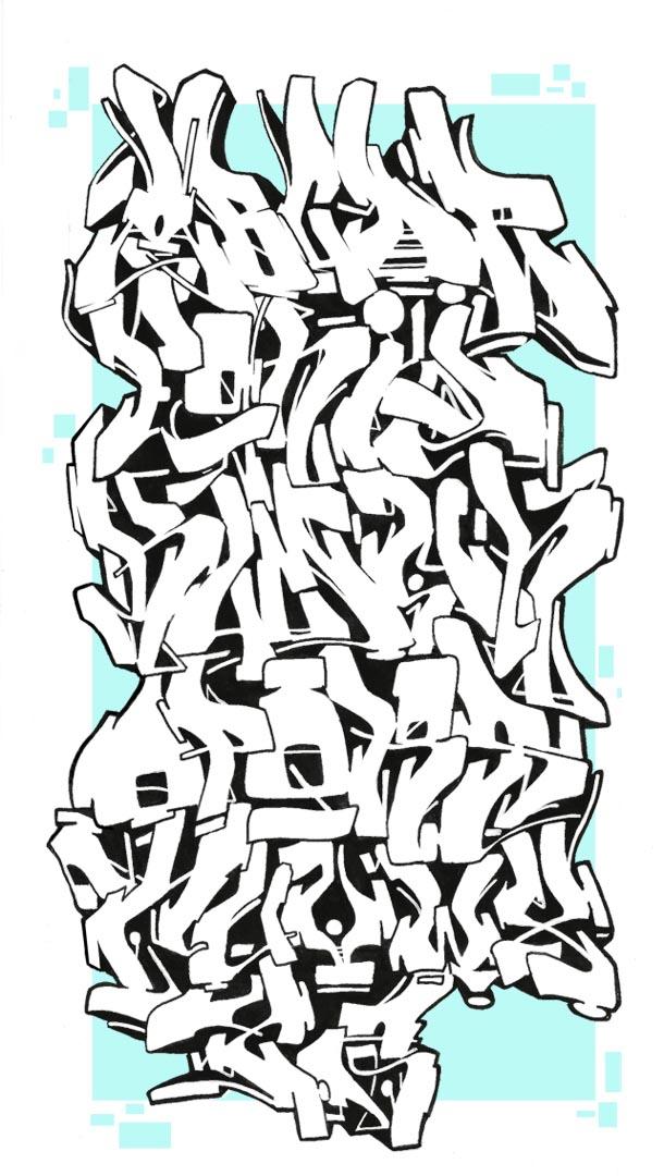 Abecedario-en-Graffiti-con-Fondo-Azul
