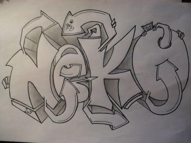 Dibujos de Graffitis Chidos- neko