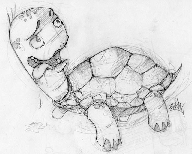 Dibujos de Graffitis Chidos- tortuga