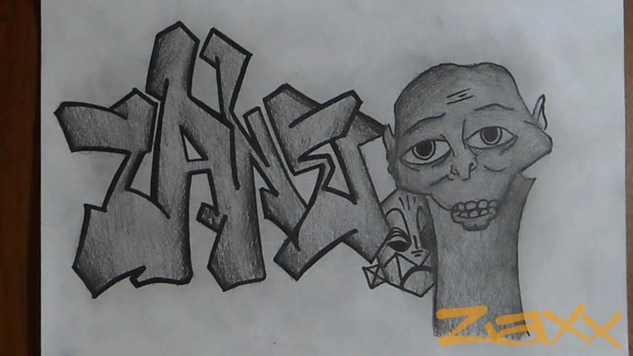 Dibujos de Graffitis Chidos- zack