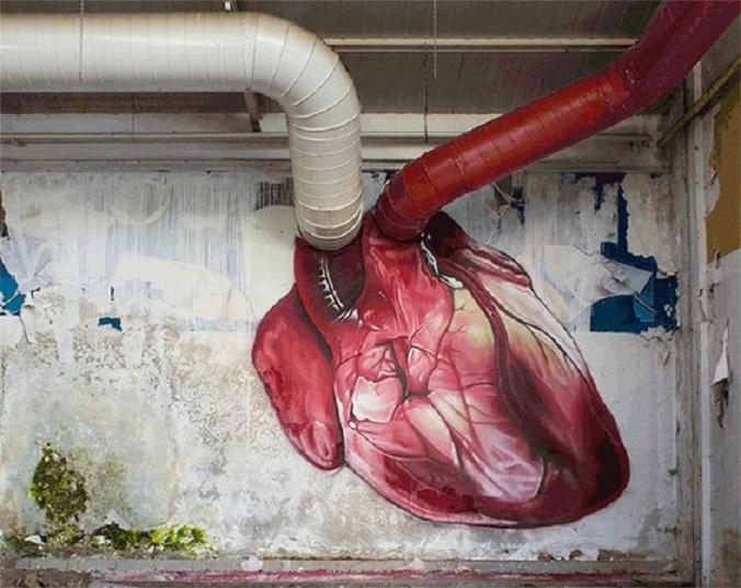 Graffitis-de-Corazones-Palpitando