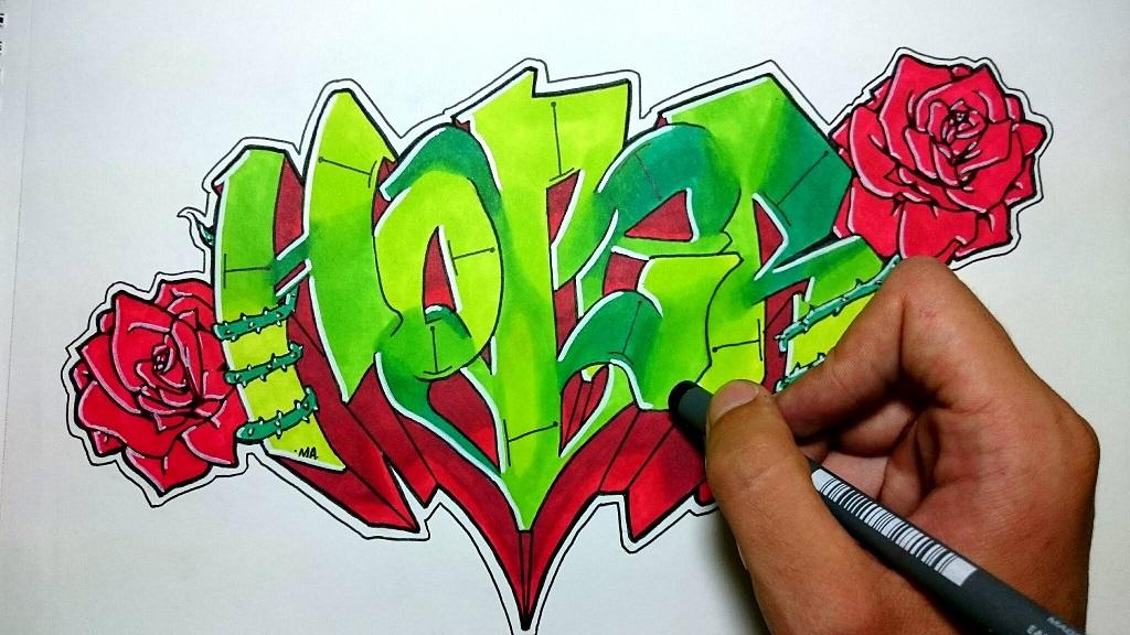 Graffitis-de-Rosas-Para-Dibujar
