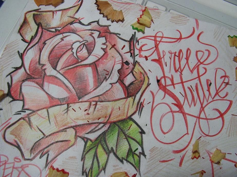 Graffitis-de-Rosas-Sencillos