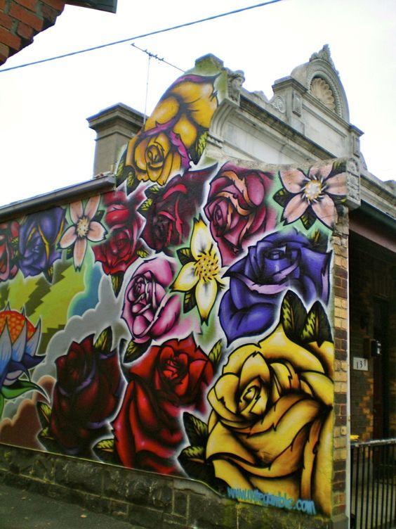 Graffitis-de-Rosas-de-Colores