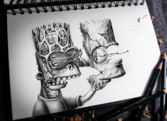 dibujos de graffitis chidos - balt simpson