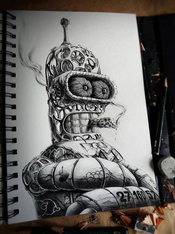 dibujos de graffitis chidos - bender