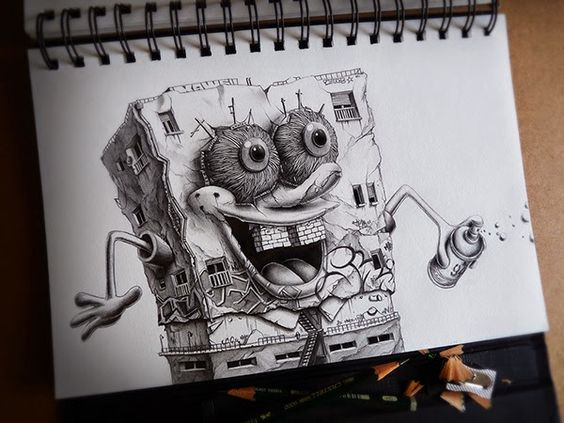 dibujos de graffitis chidos - bob esponja