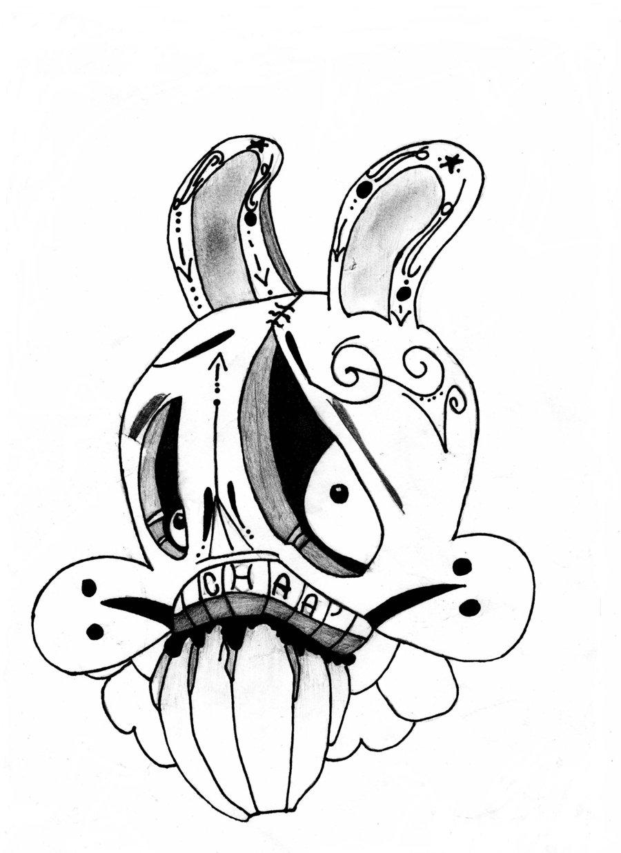 dibujos de graffitis chidos - conejo