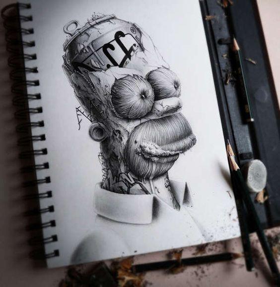 dibujos de graffitis chidos - homero
