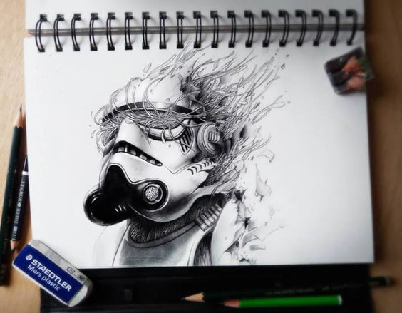 dibujos de graffitis chidos - star war