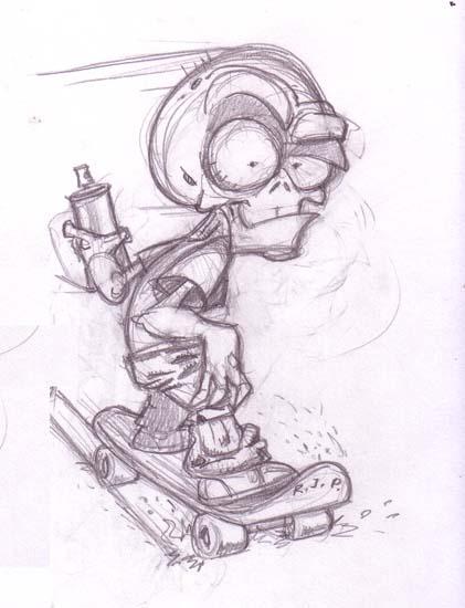 dibujos de graffitis chidos - zombie