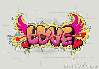 graffitis de amor chidos - love con alas