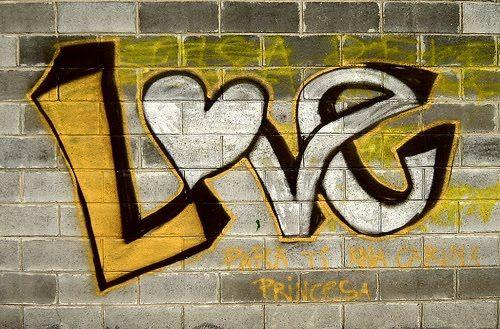 graffitis de amor chidos - palabra love escrita en graffiti