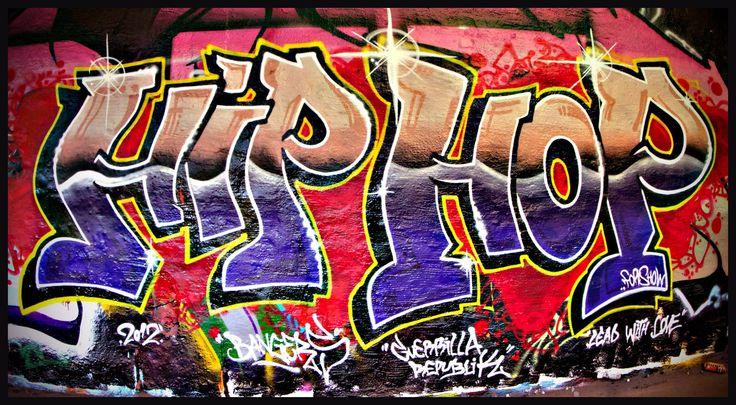 Graffitis de Hip Hop- azul y naranja