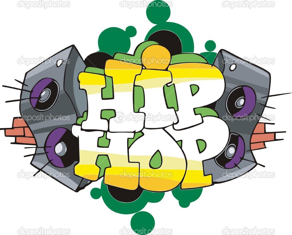Graffitis de Hip Hop- bocinas a los lados