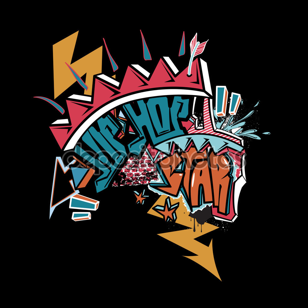 Graffitis de Hip Hop- corona roja