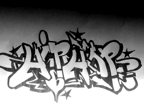 Graffitis de Hip Hop- en papel