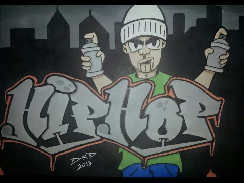 Graffitis de Hip Hop- hip hop fan