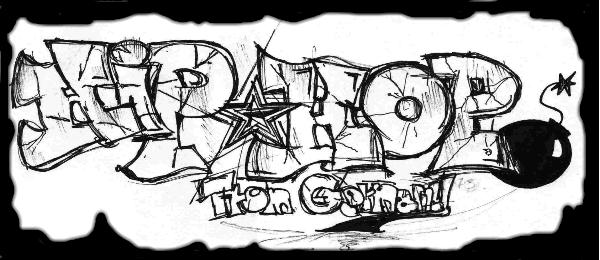 Graffitis de Hip Hop- hip hop star chula