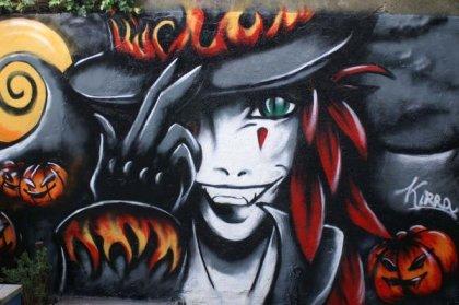 Graffitis de Mujeres- la mano en el sombrero