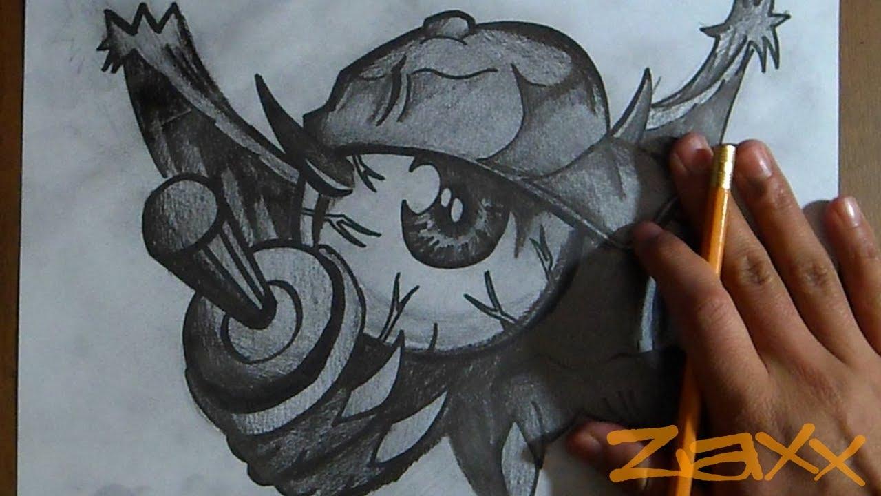 Graffitis de Ojos- ojo con cuernos