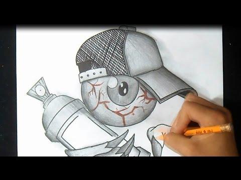 Graffitis de Ojos- ojo con gorra