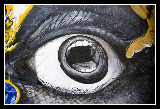Graffitis de Ojos- ojos con forma de boca