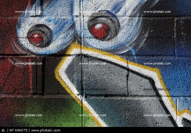 Graffitis de Ojos- ojos rojos
