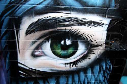 Graffitis de Ojos- ojos verdes