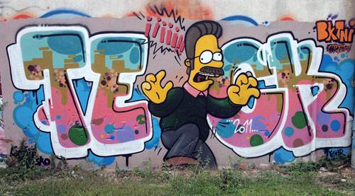 Graffitis de los Simpson- bonito graffiti de los simpson