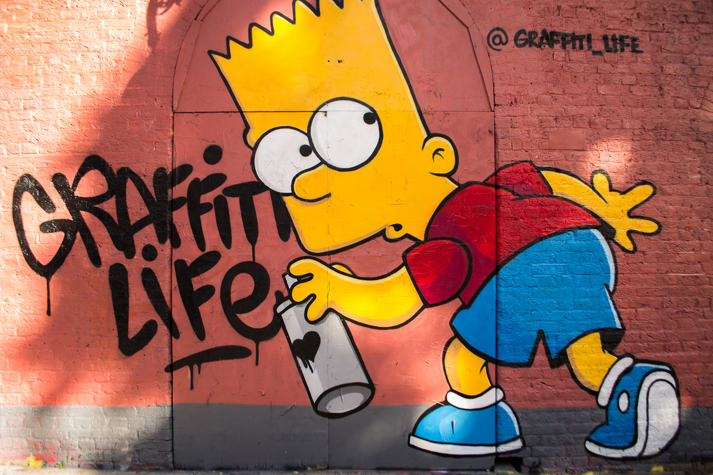 Graffitis de los Simpson- graffiti life