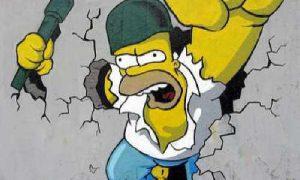 Graffitis de los Simpson
