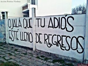 graffitis de amor frases - accion poetica