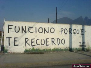 graffitis de amor frases - te recuerdo