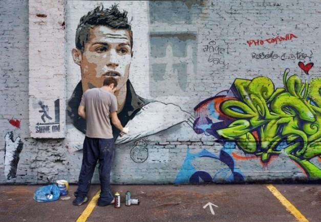 graffitis de futbol - cristiano ronaldo