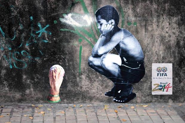 graffitis de futbol - triste