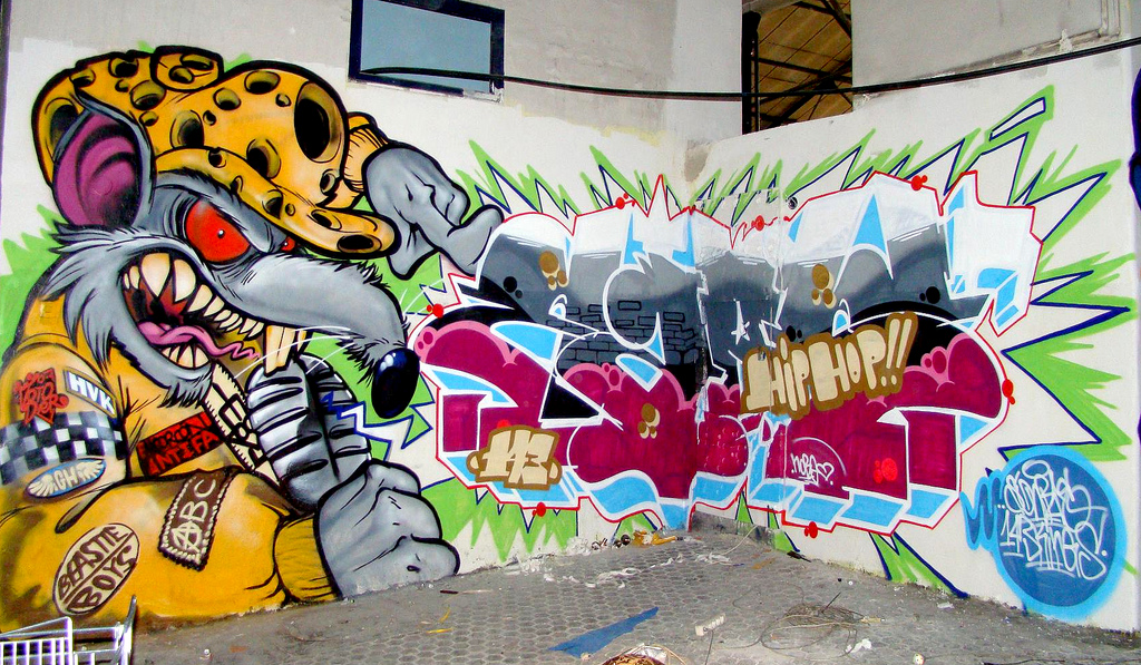 graffitis de hip hop - arte