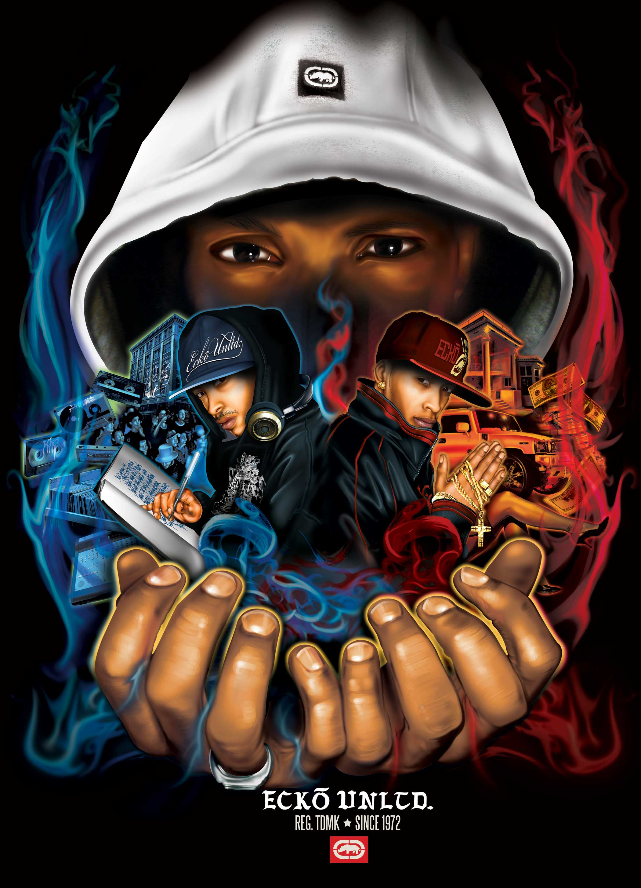graffitis de hip hop - poster