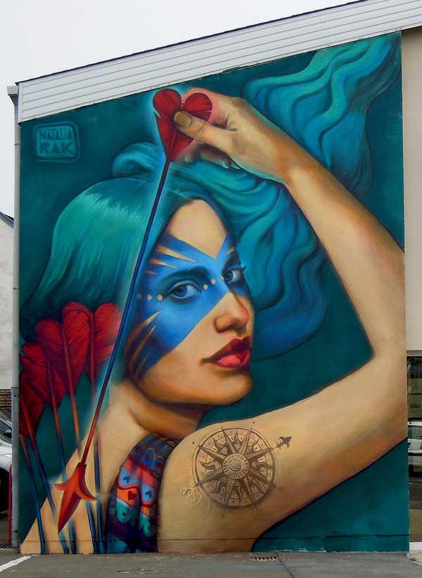 graffitis de mujeres - arte urbano